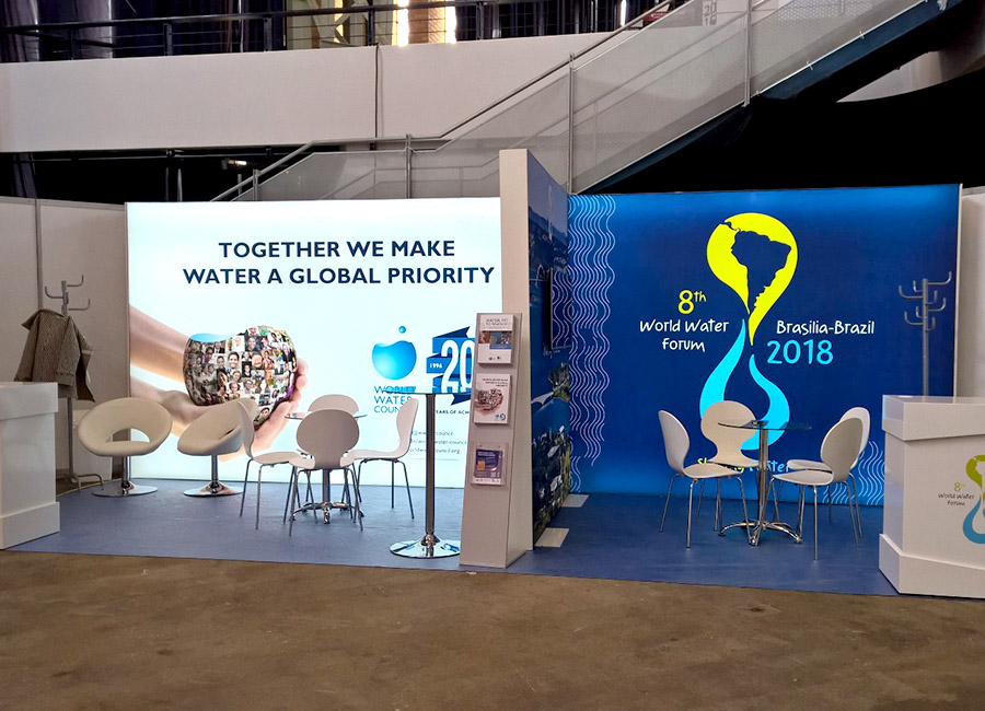 Exhibition stand for the World Water Council